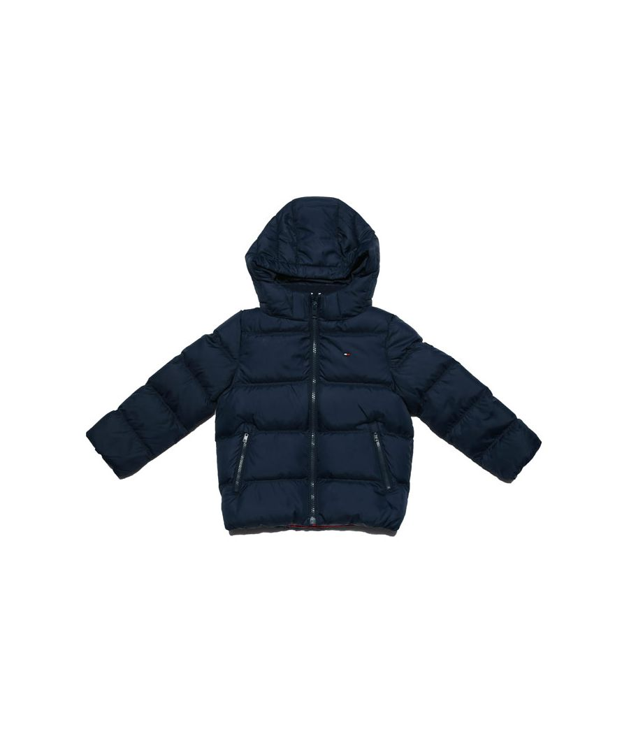 Image for Boy's Tommy Hilfiger Junior Essential Down Jacket in Navy