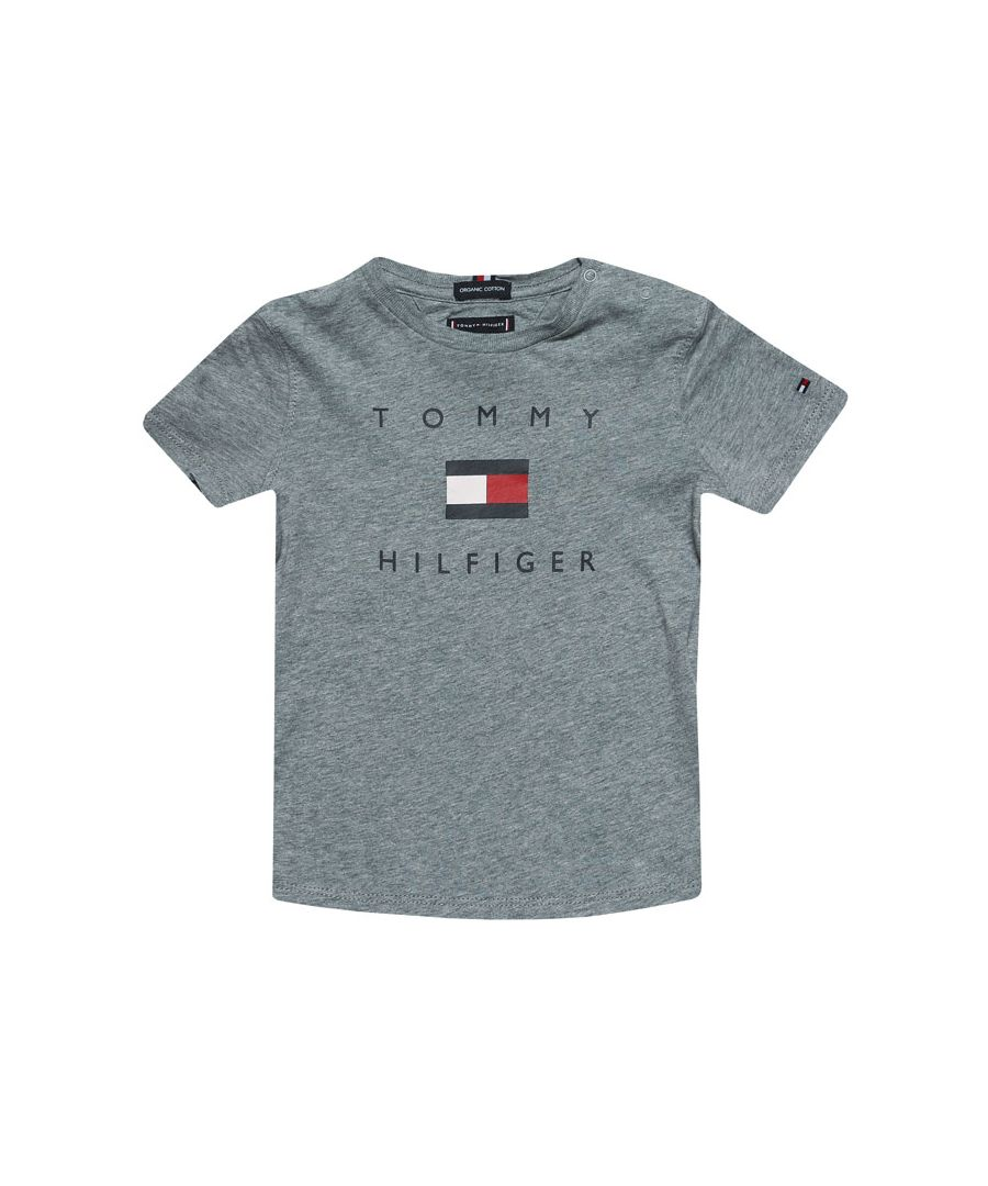 Image for Boy's Tommy Hilfiger Infant Logo T-Shirt in Grey