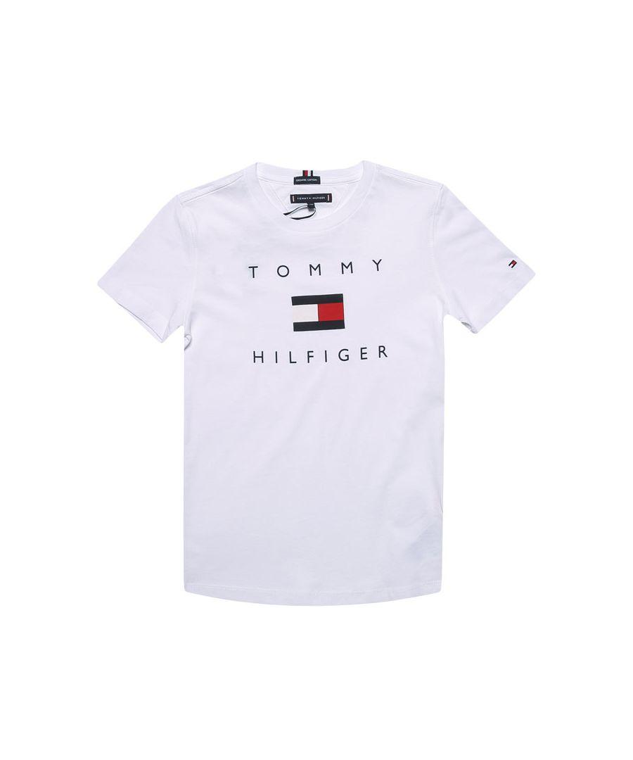 Image for Boy's Tommy Hilfiger Infant Logo T-Shirt in White