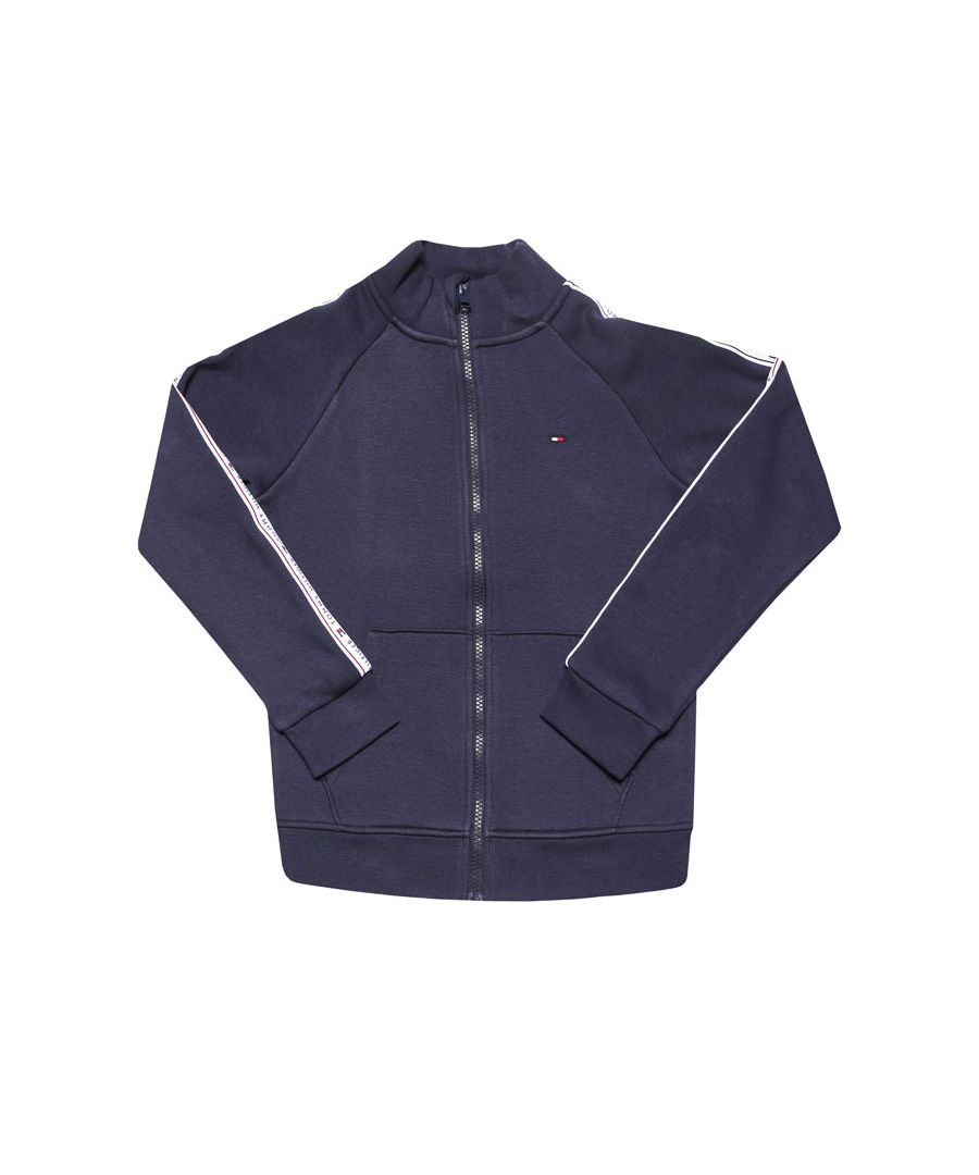 Image for Boys' Tommy Hilfiger Junior Tommy Tape Zip Hoodie in Navy