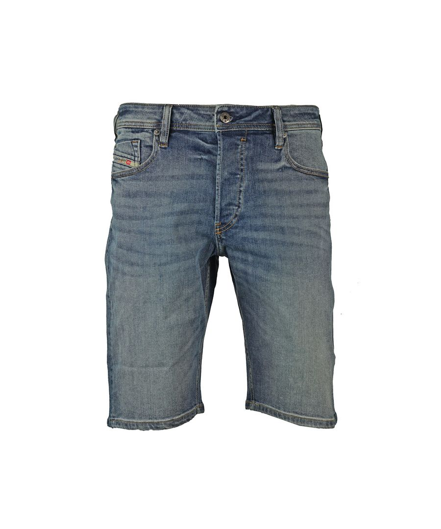 Image for Diesel Keeshort Light Blue Denim Shorts