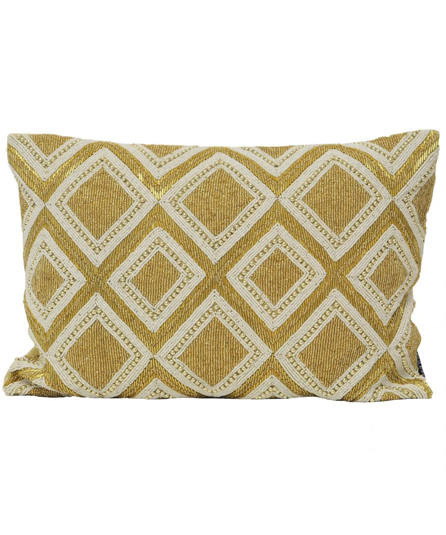 Image for Kenitra Poly Cushion 35X50 Gold