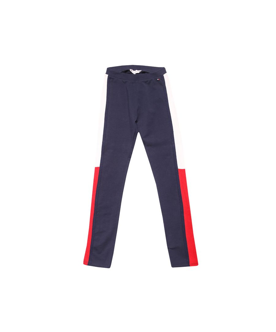 Image for Girl's Tommy Hilfiger Junior Icons Slim Logo Jog Pant in Navy