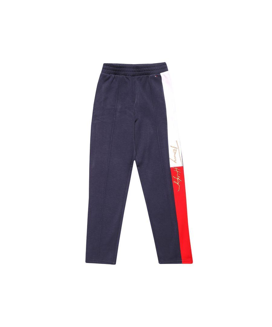Image for Girls' Tommy Hilfiger Junior Slim Logo Jog Pant in Navy