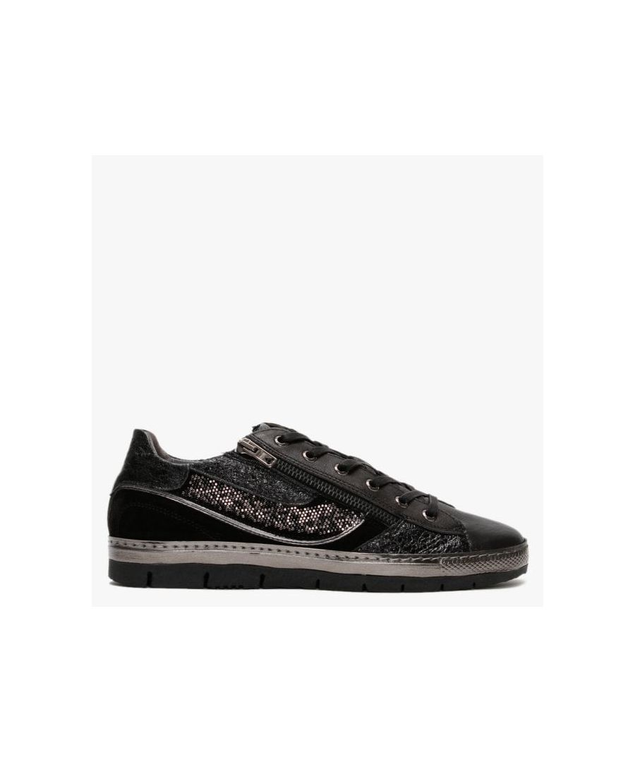 Image for Khrio Leather & Suede Embellished Low Top Trainers