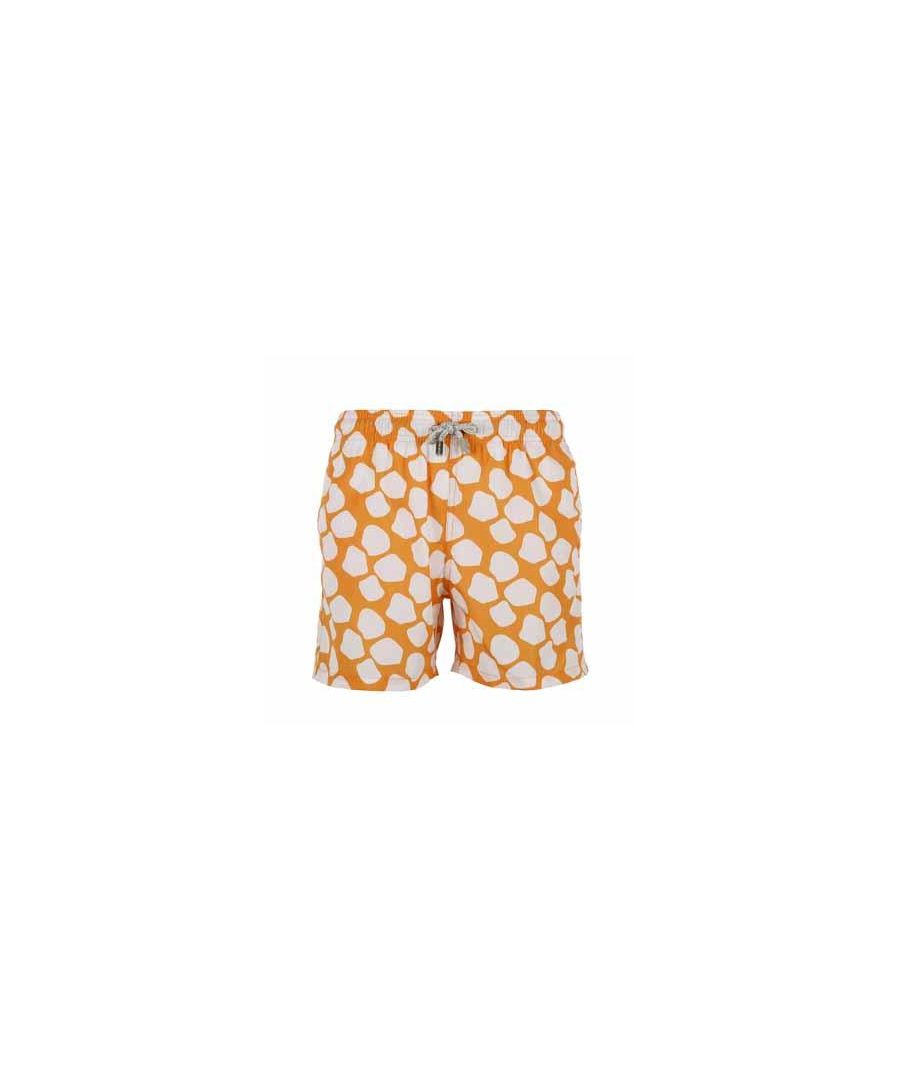 Image for Men's Orange Giraffe Swim Shorts