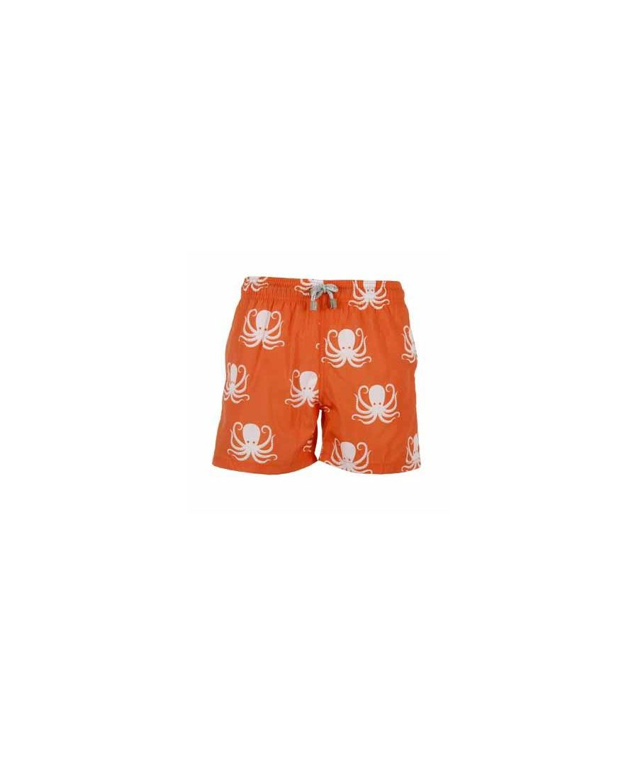 Image for Men's Orange Octopus Swim Shorts