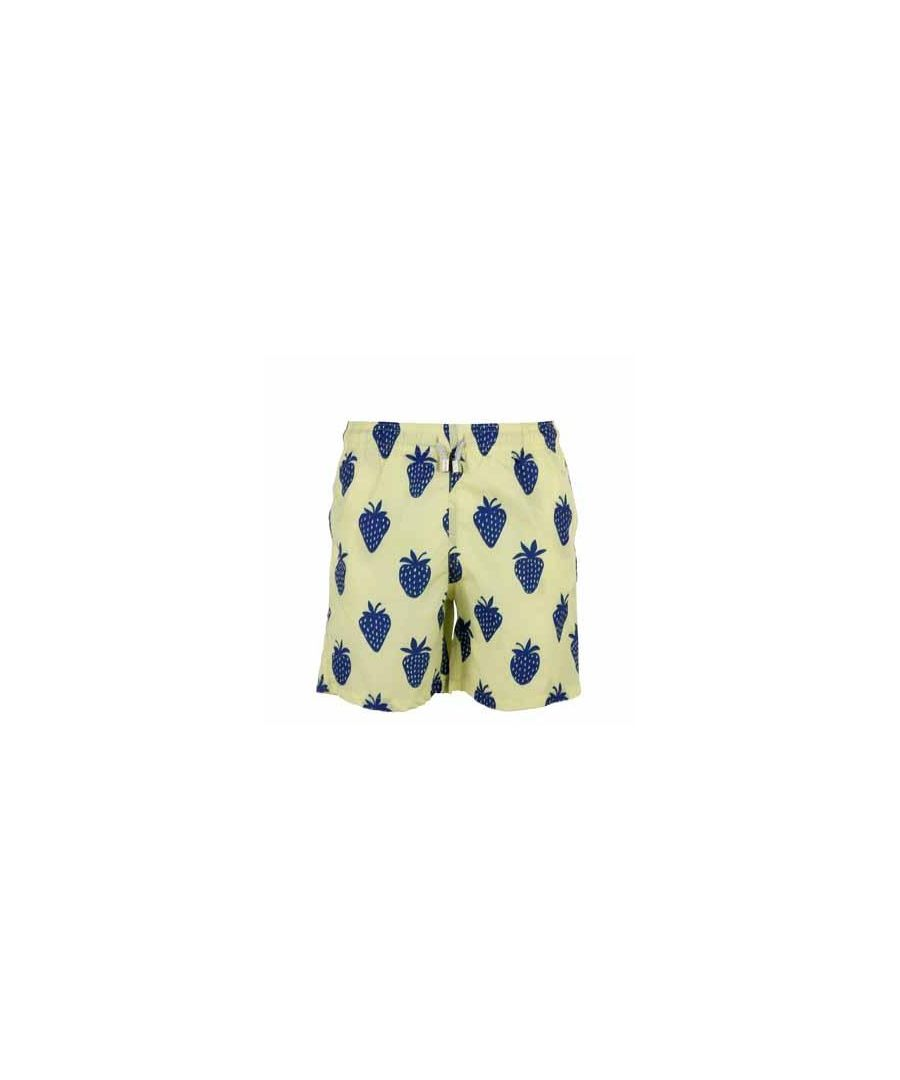 Image for Men's Yellow Strawberry Swim Shorts