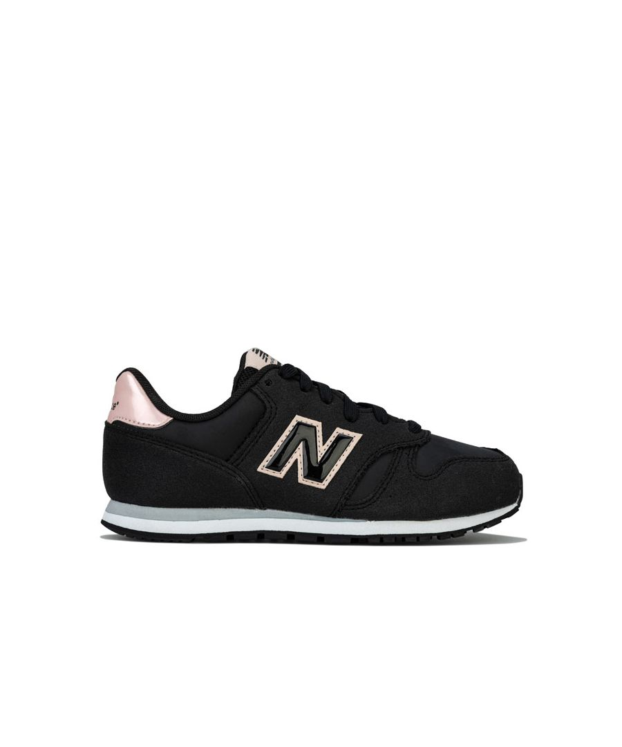 Image for Girl's New Balance Children 373 Trainers in Black