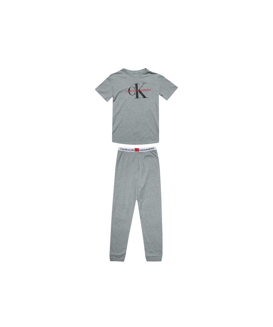 Image for Boy's Calvin Klein Junior Pyjamas Set in Grey Heather