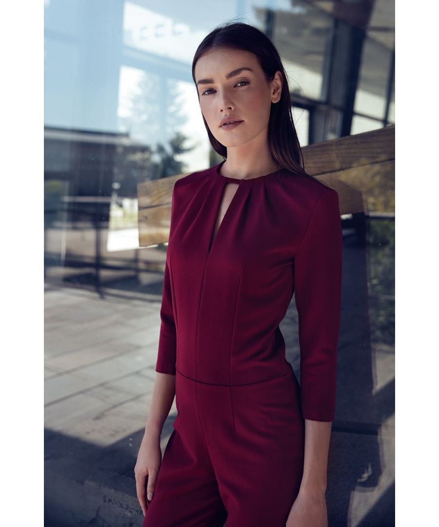 Image for Jumpsuit with crack on the neckline - claret