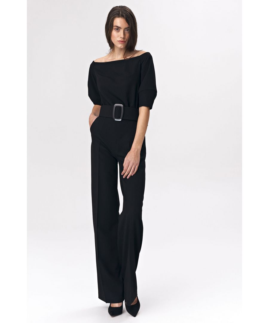 Image for Black jumpsuit with a belt