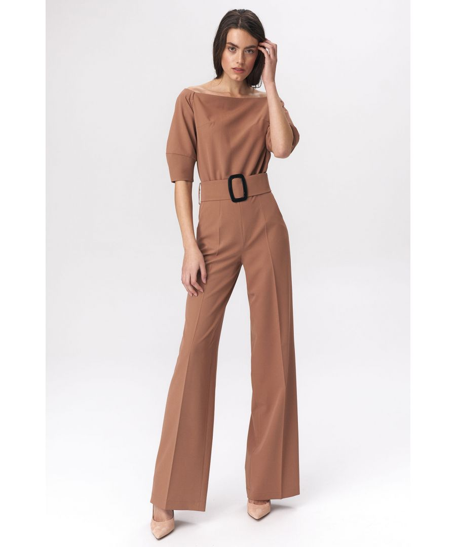 Image for Caramel jumpsuit with a belt