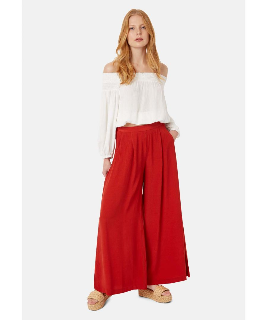 Image for Kiss Me Softly Wide Leg Trouser in Red
