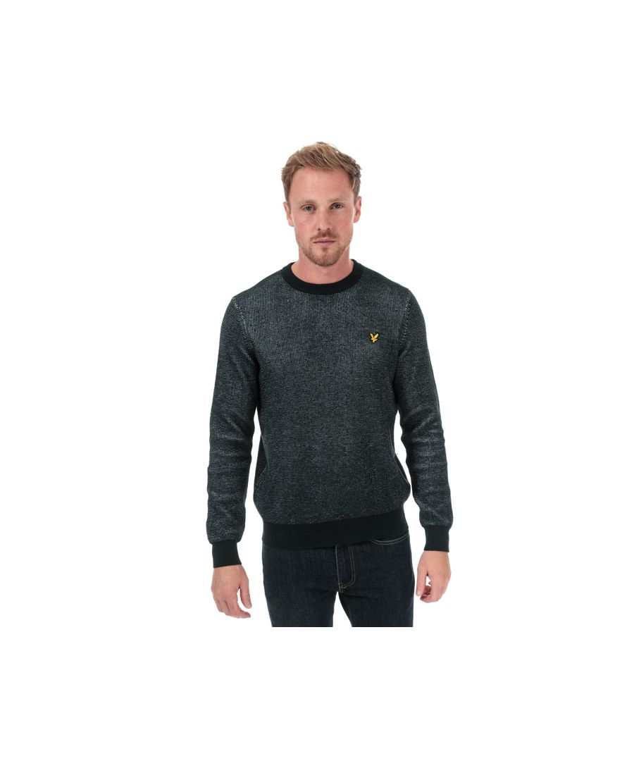 Image for Men's Lyle And Scott Crew Neck Knitted Jumper in Navy