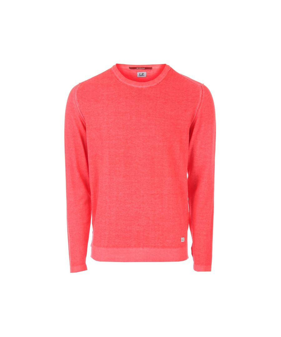 Image for Men's C.P. Company Crew Neck Lens Pocket Knit in Red