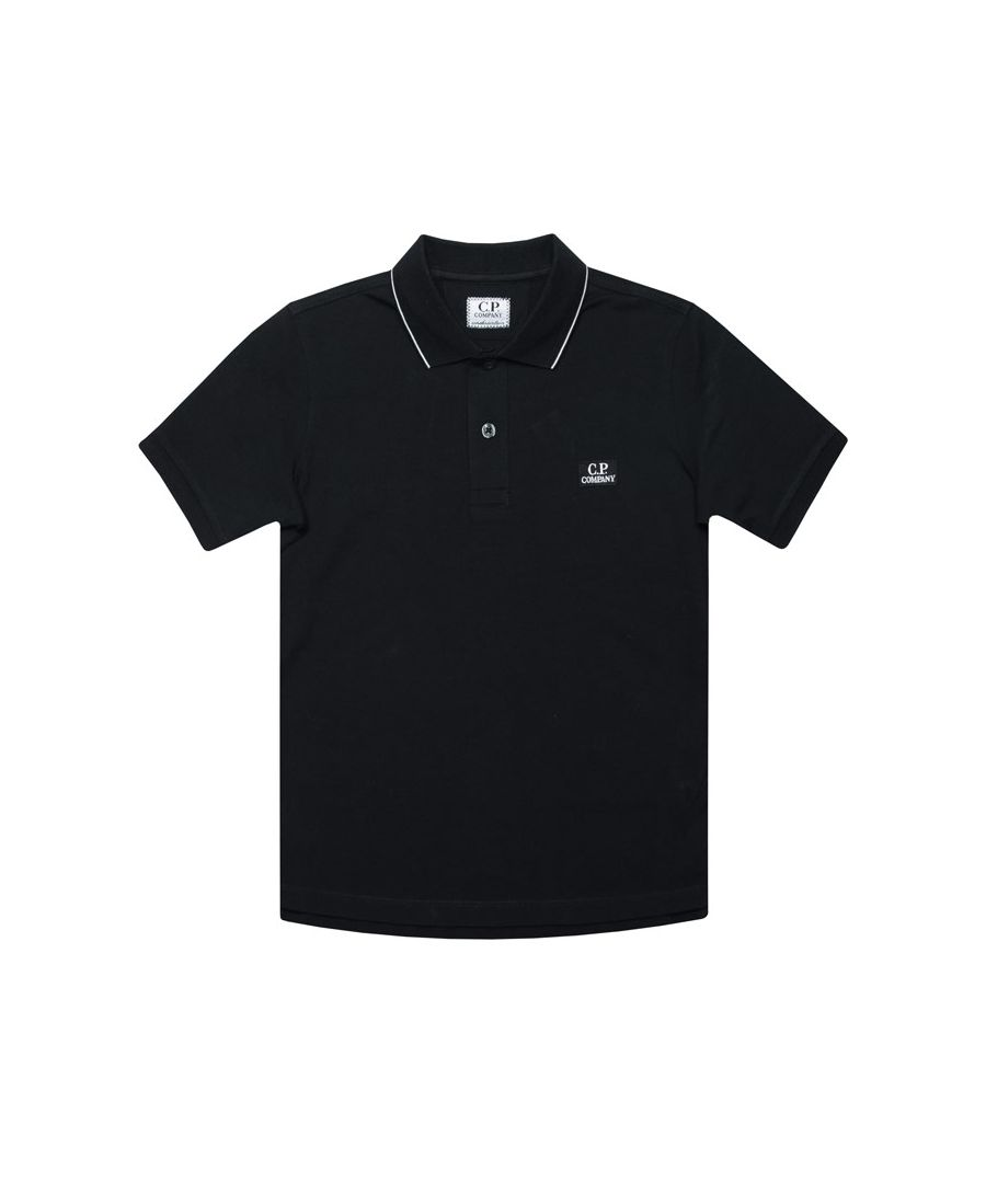 Image for Boys' C.P. Company Junior Tipped Polo Shirt in Navy