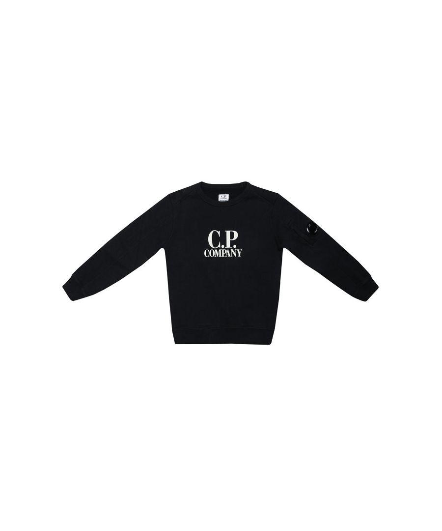 Image for Boy's C.P. Company Junior Crew Sweat in Black