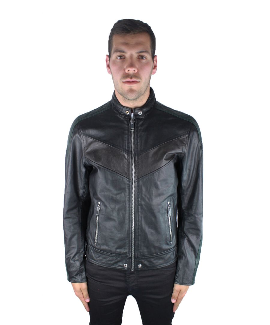 Image for Diesel L-Reed 900A Leather Jacket