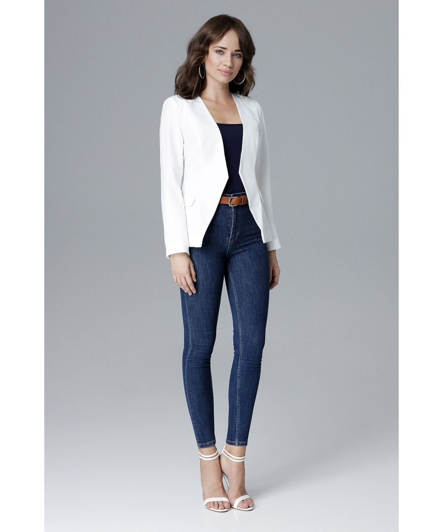 Image for Deep V Neckline Jacket Without Fastening