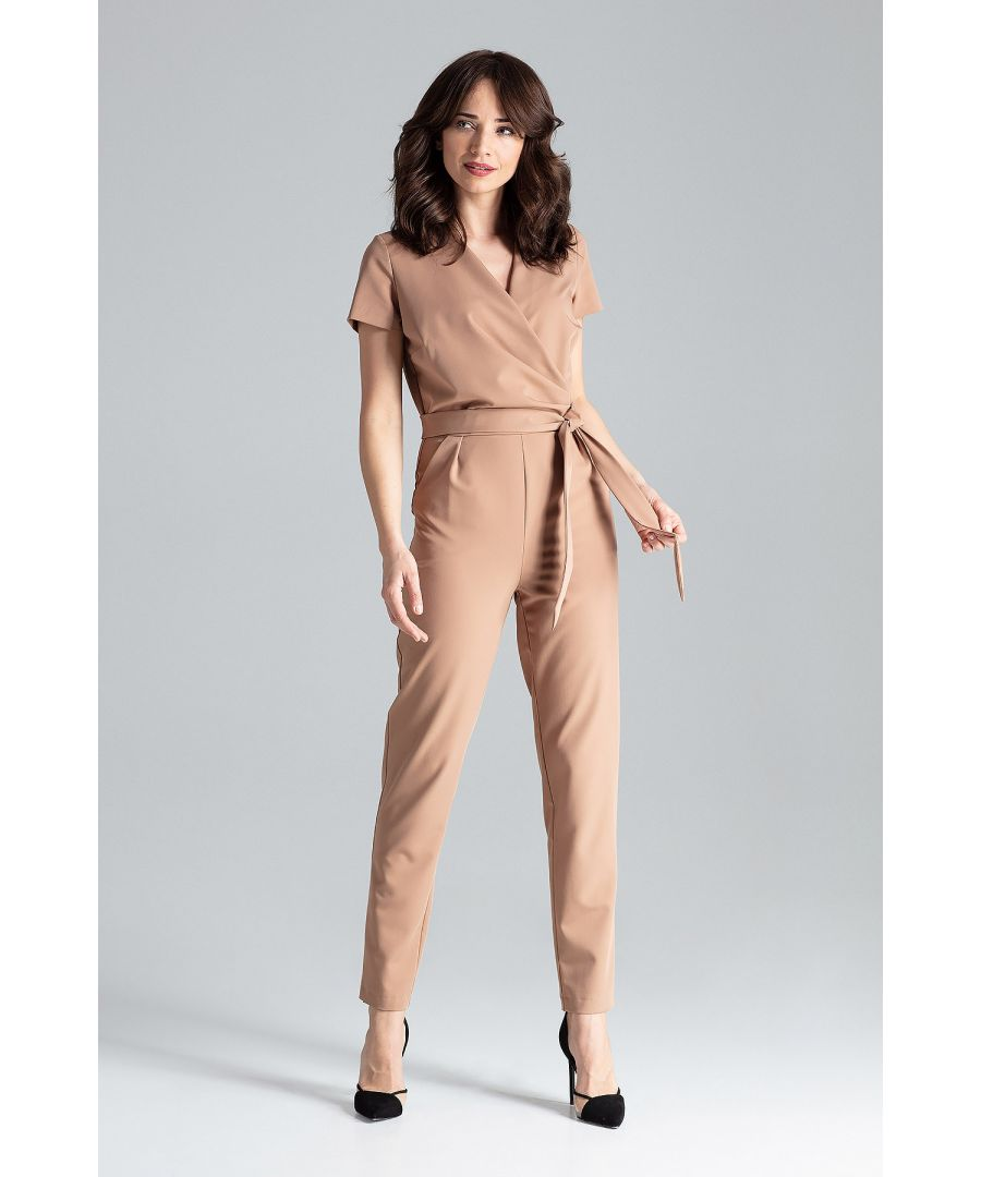 Image for Short-sleeved Jumpsuit With Long Legs
