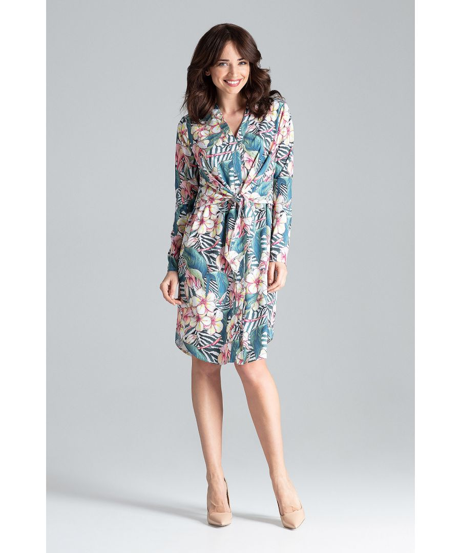 Image for Shirt Dress With Decorative Tied At The Waist