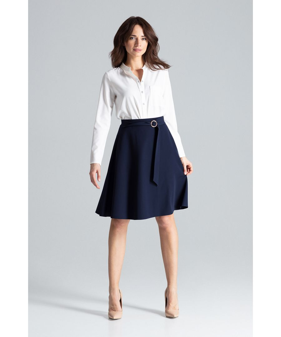 Image for Flared Midi Skirt
