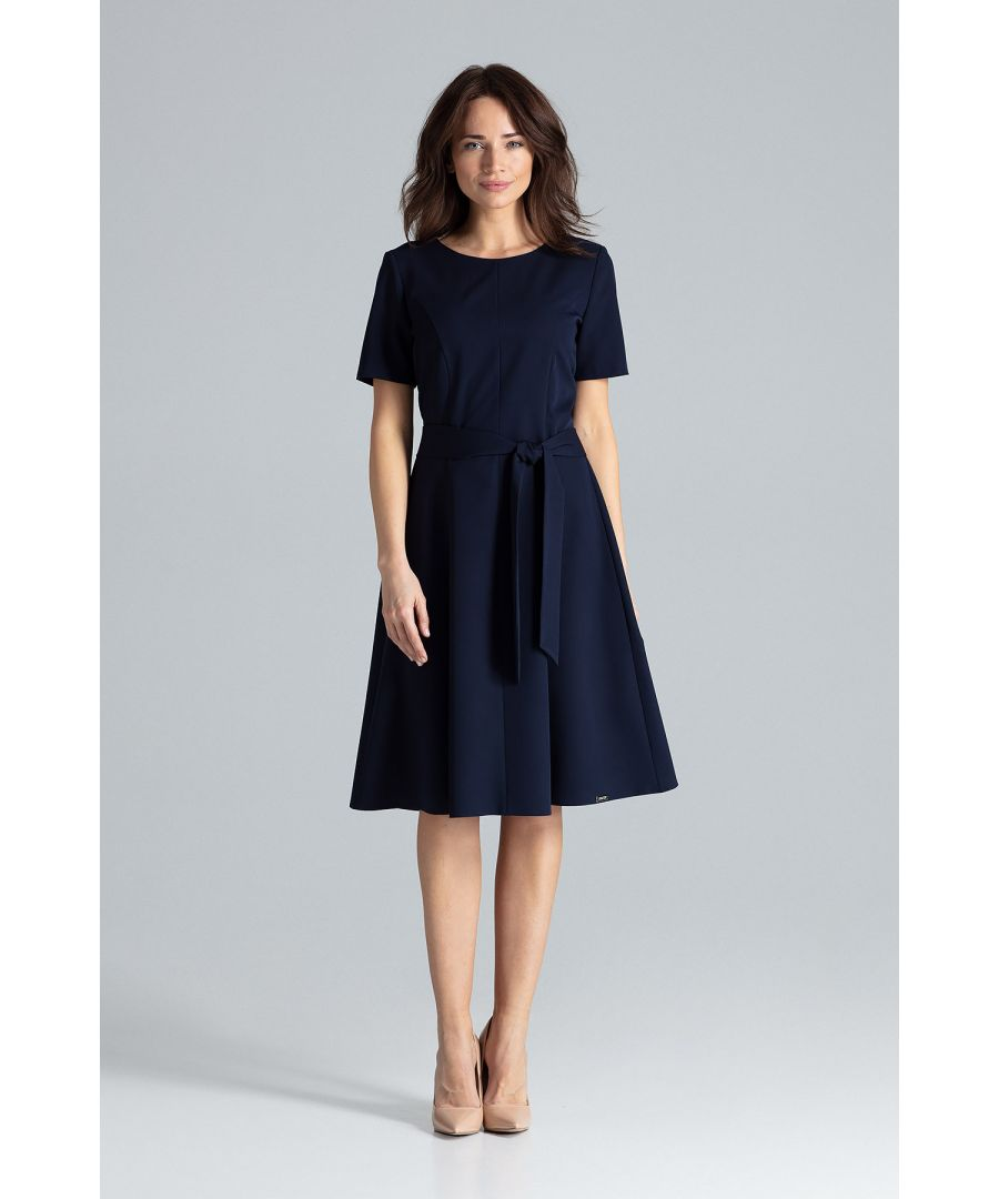 Image for Classic Midi Dress With Short Sleeves