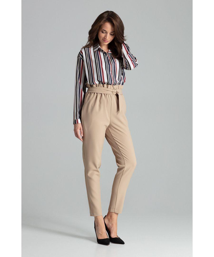Image for Beige Long Trousers Tapered Down
