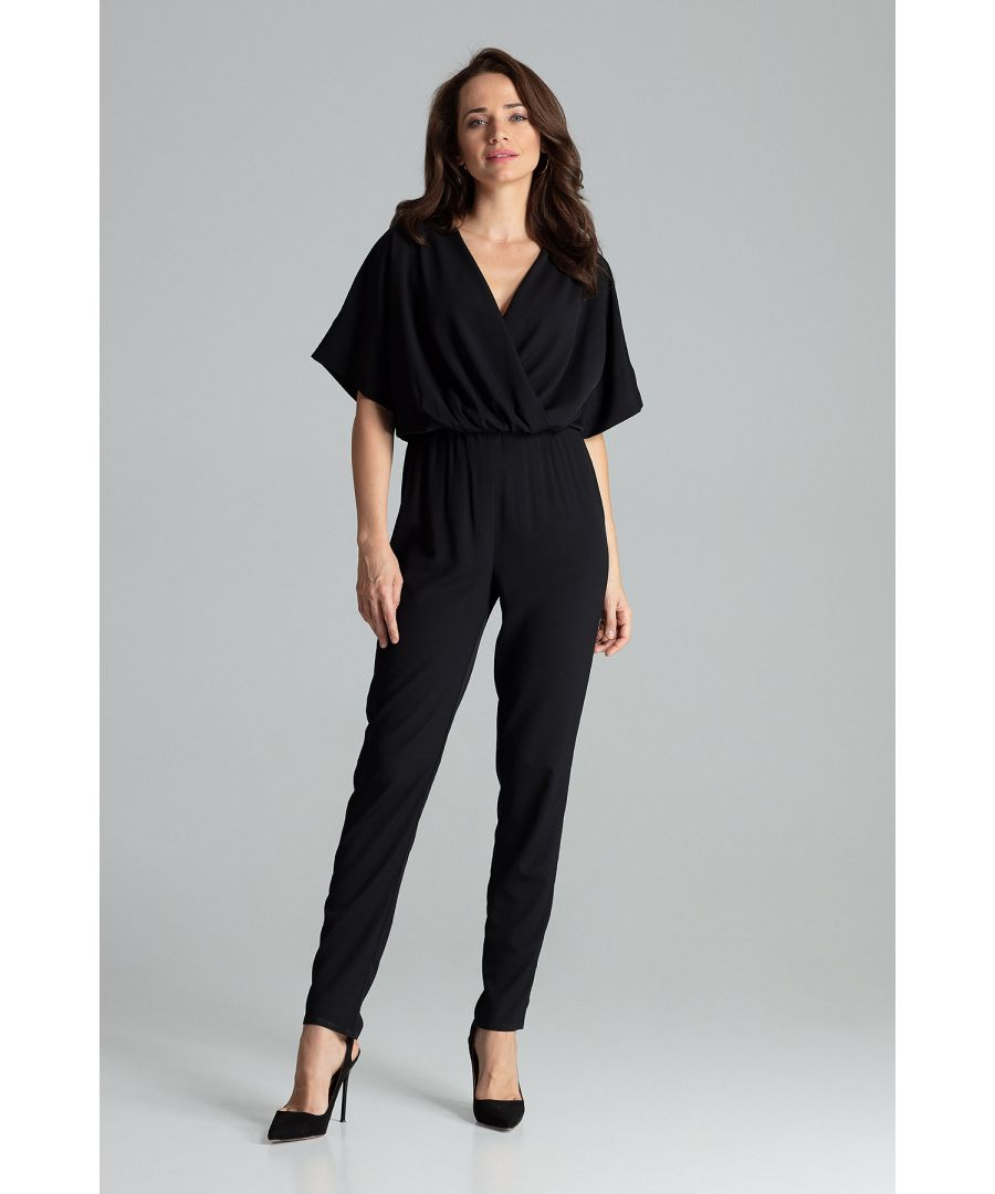 Image for Black Jumpsuit With Long Straight Legs