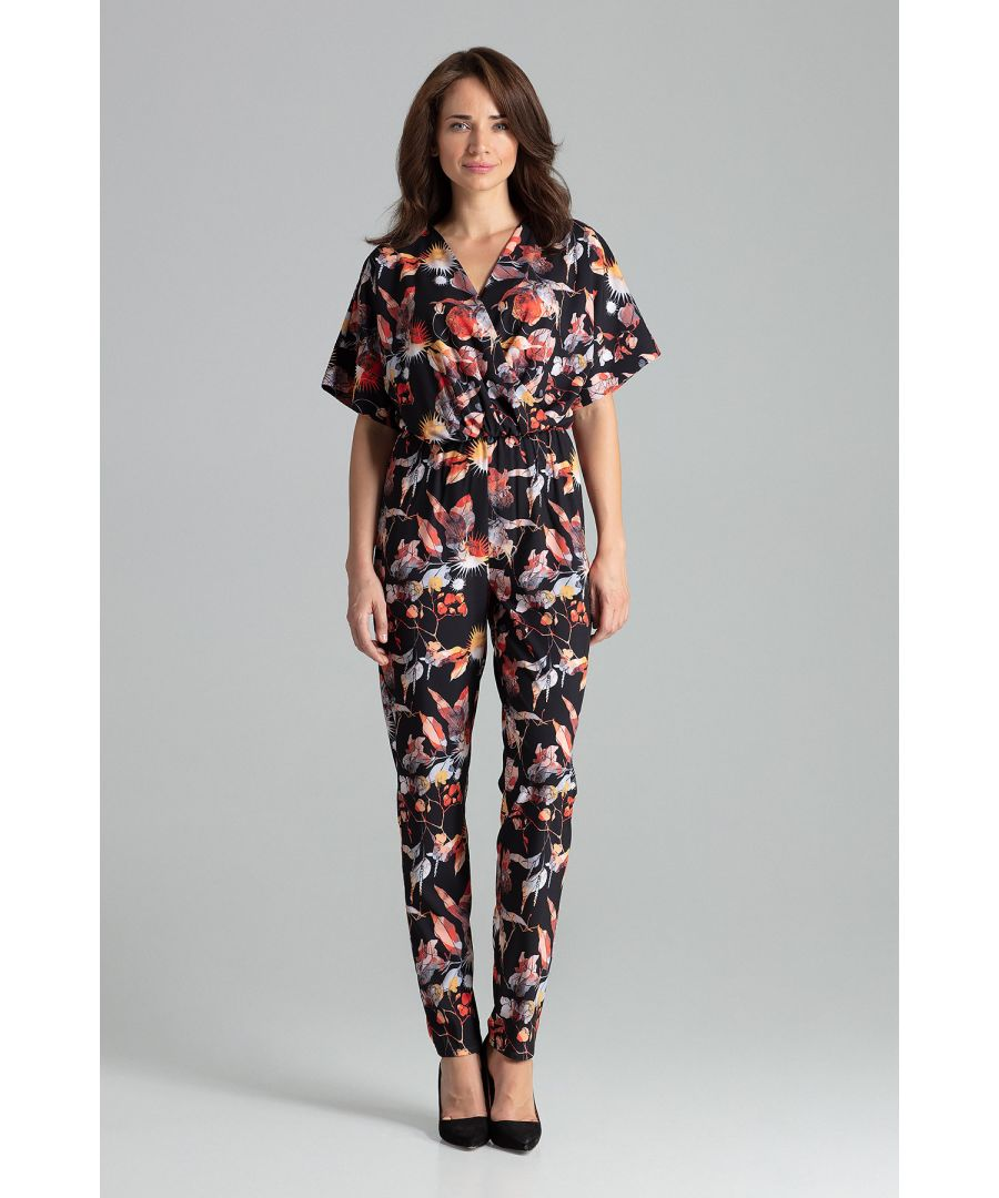 Image for Floral Print Jumpsuit With Long Straight Legs