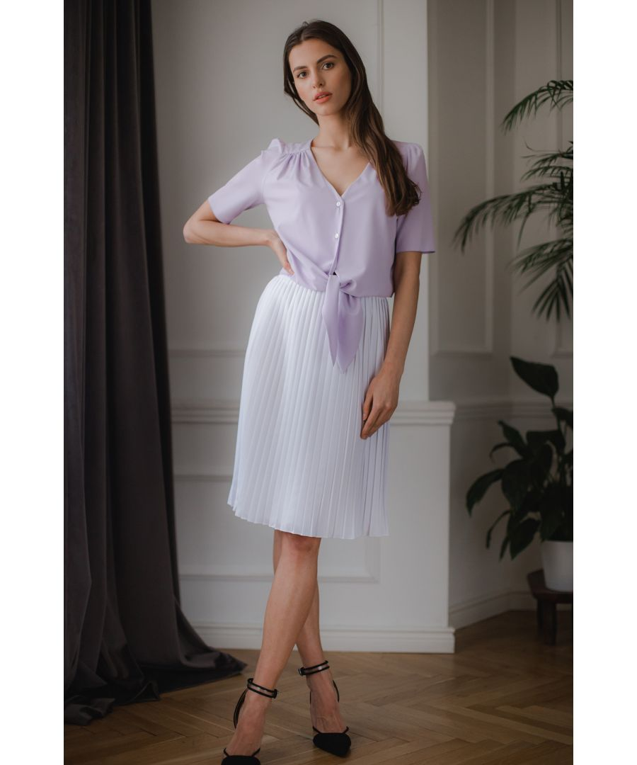 Image for Violet Short, Simple Blouse With a Decorative Tie
