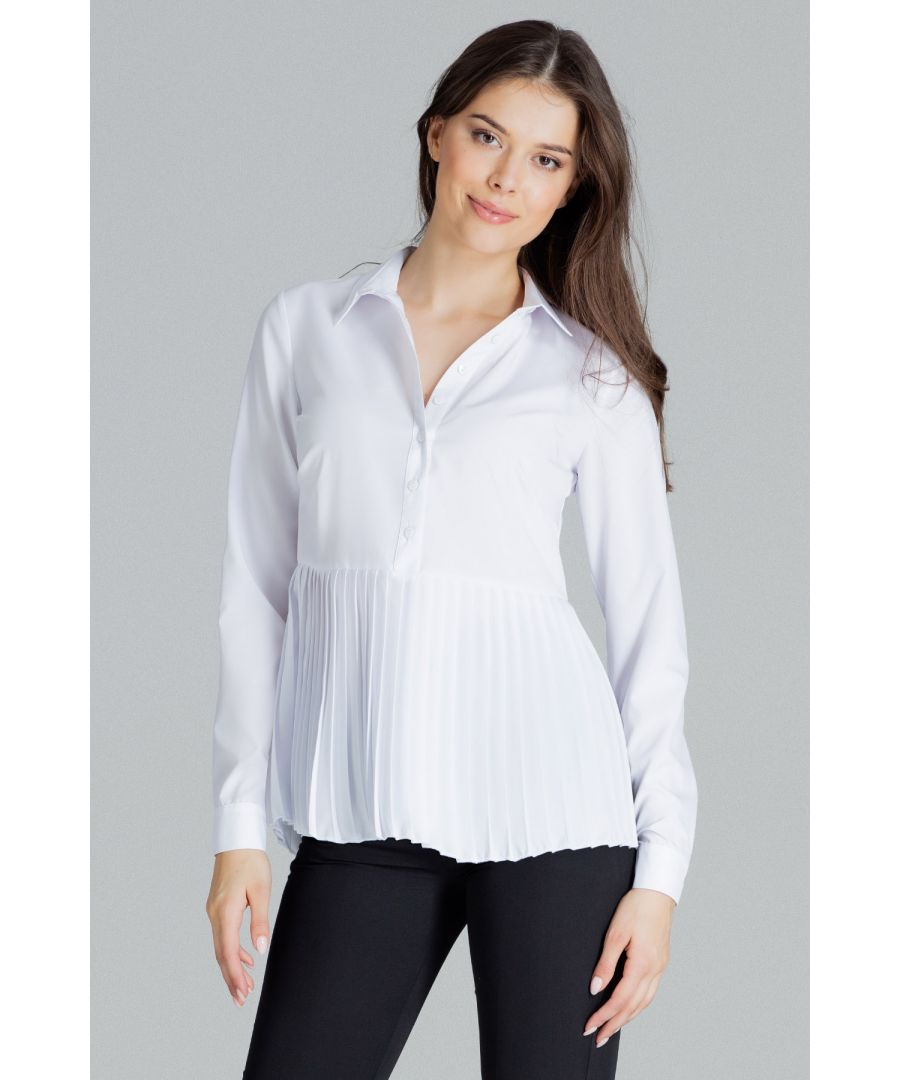 Image for White Shirt With Pleated Bottom