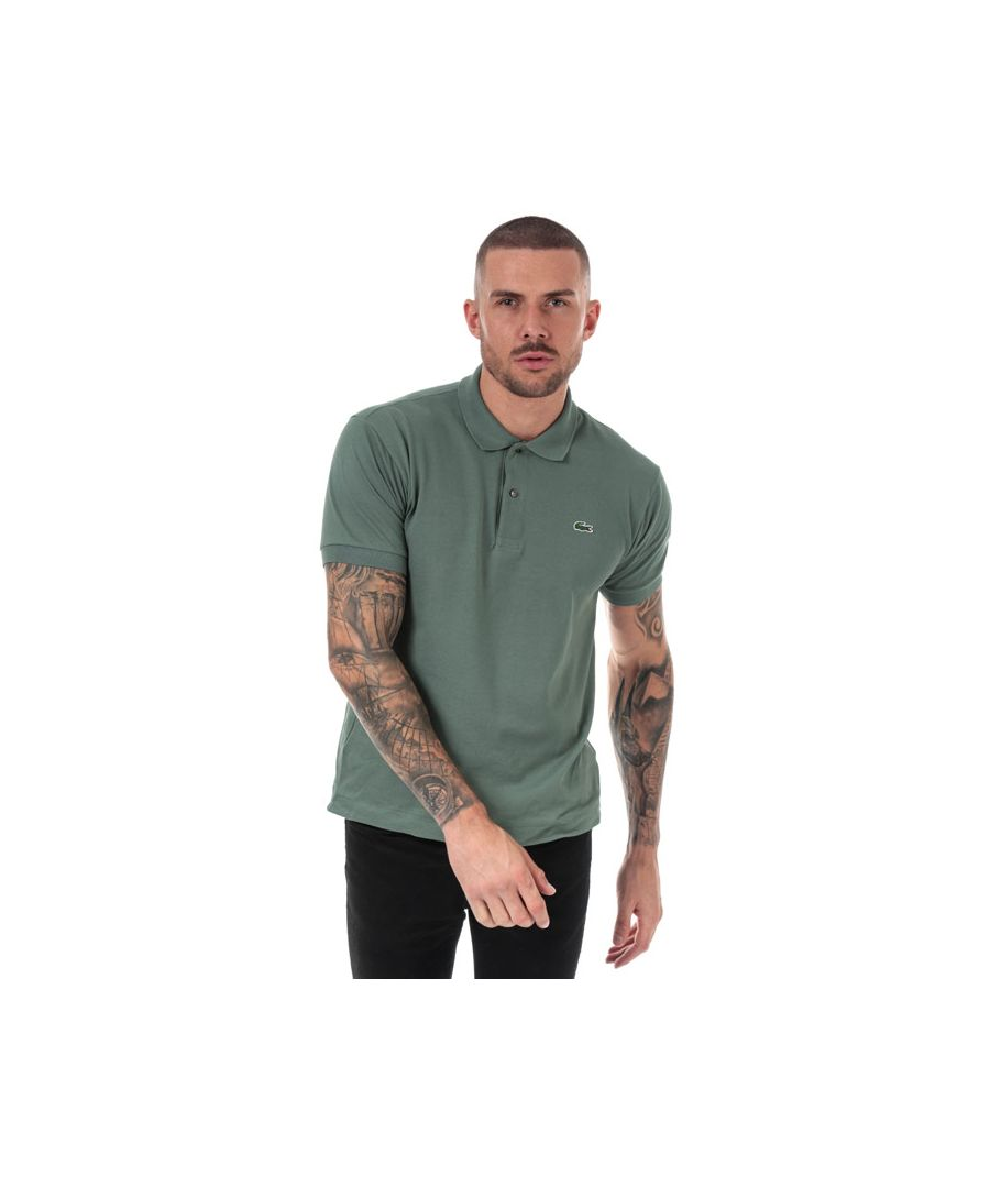 Image for Men's Lacoste Classic Fit L1212 Polo Shirt in Khaki