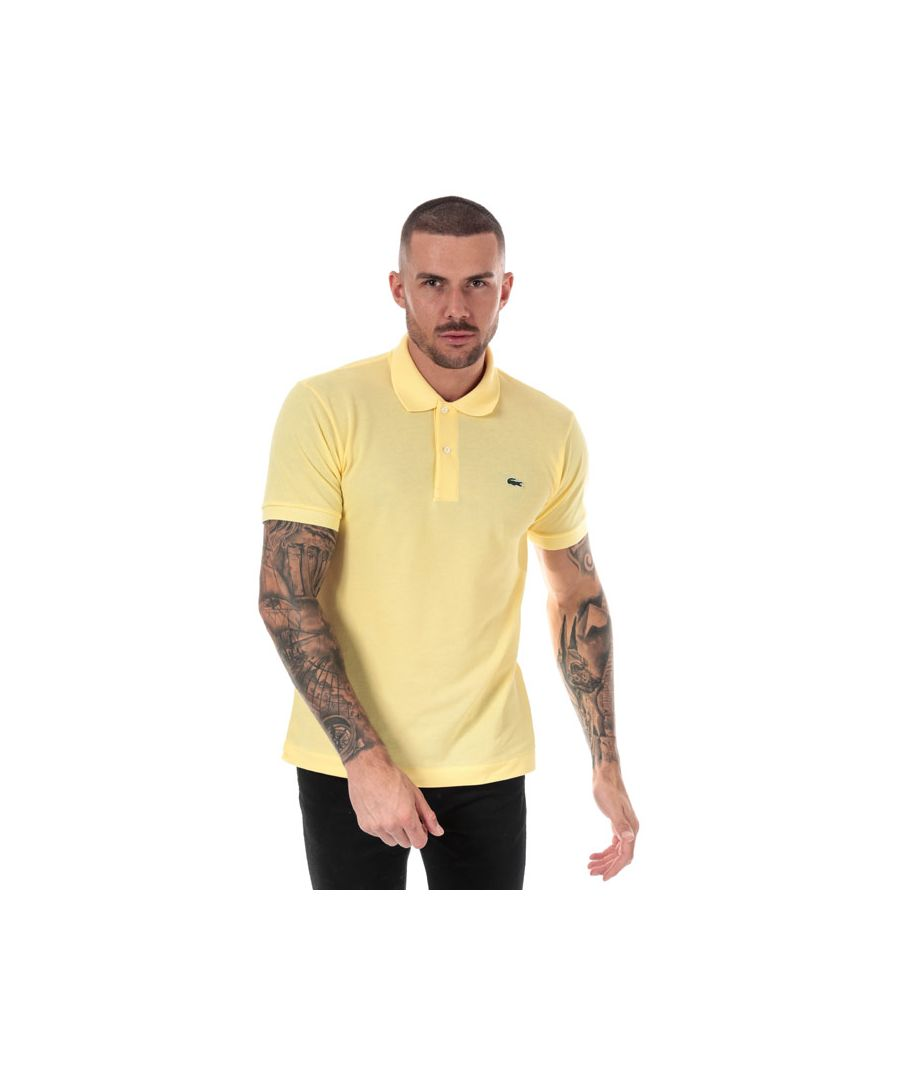 Image for Men's Lacoste Classic Fit L1212 Polo Shirt in Yellow