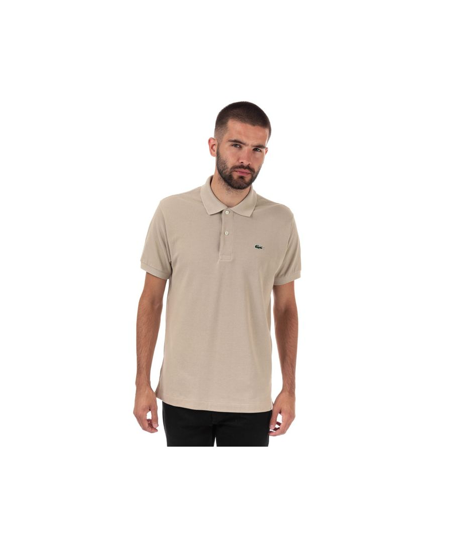 Image for Men's Lacoste Classic Fit L1212 Polo Shirt in Brown