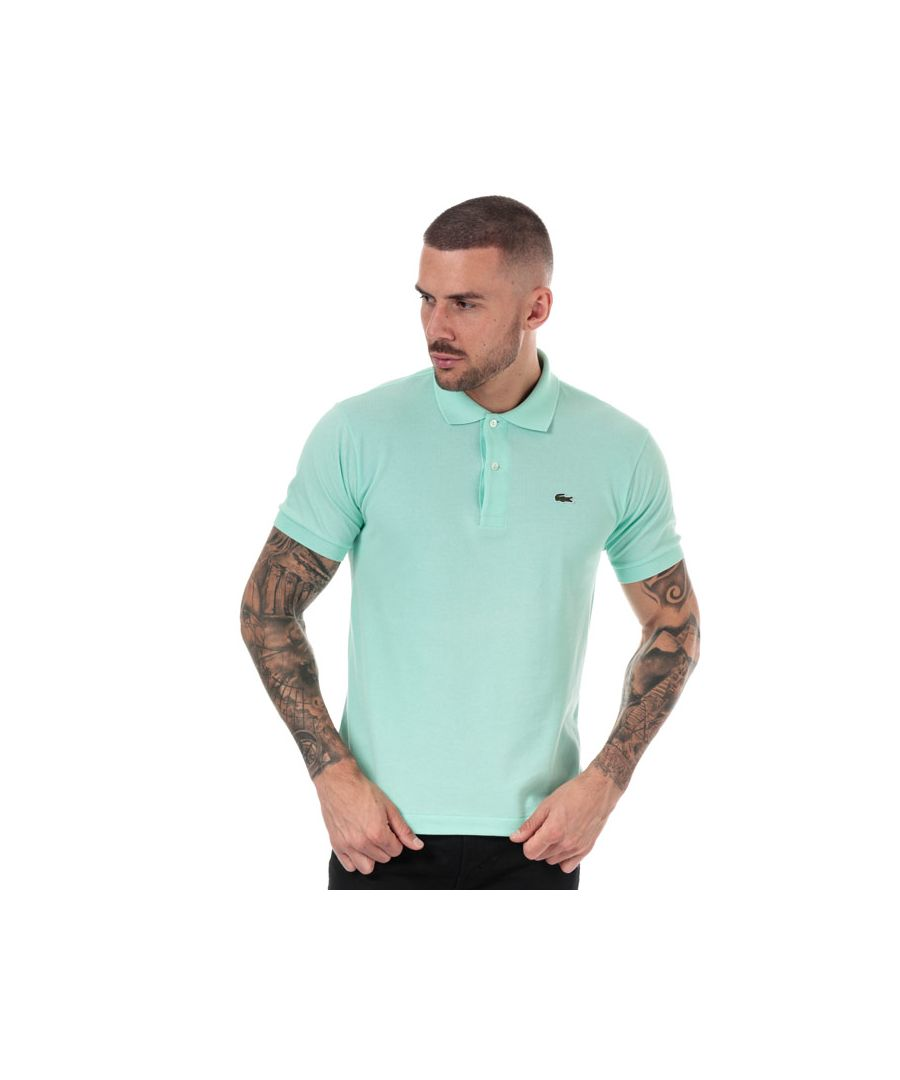 Image for Men's Lacoste Classic Fit L.12.12 Pique Polo Shirt in Turquoise