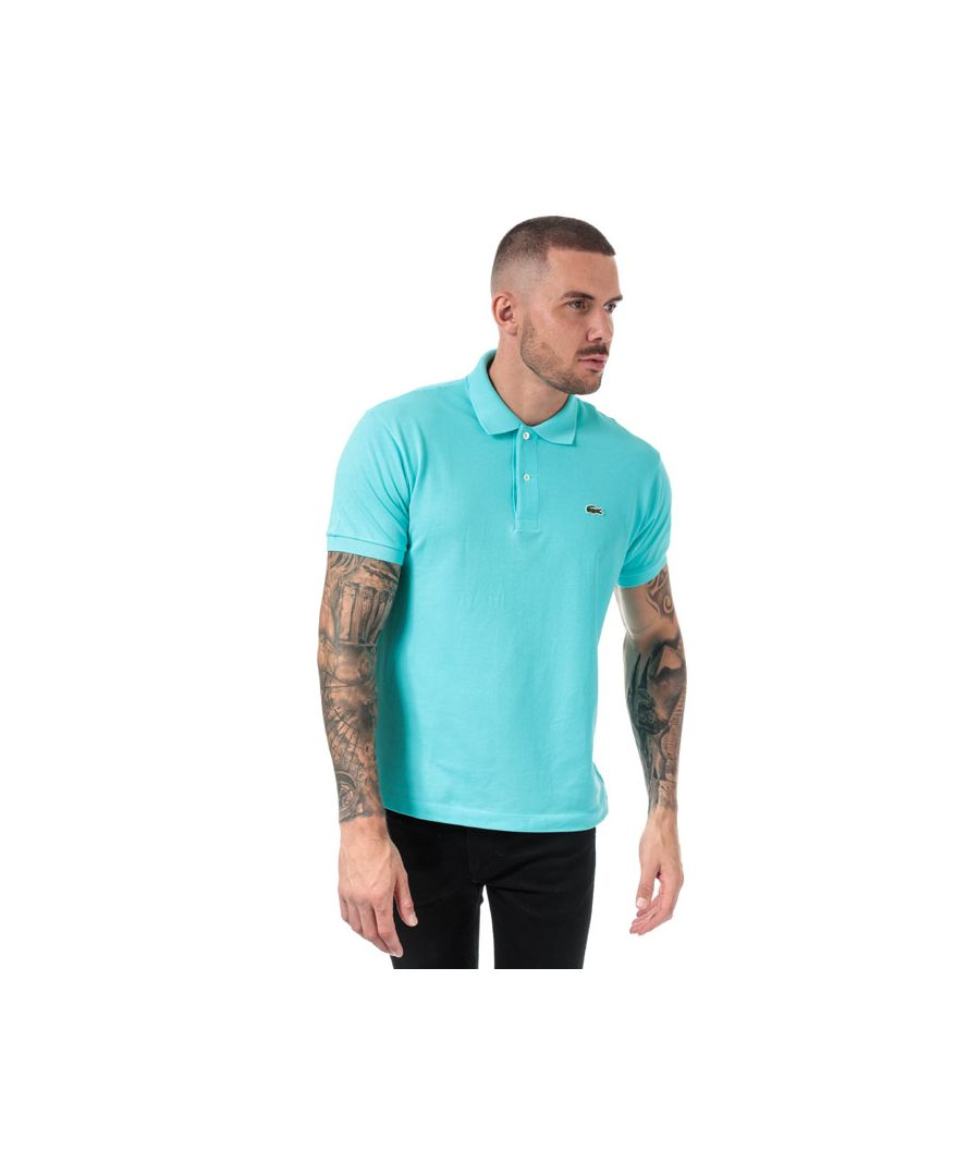 Image for Men's Lacoste Classic Fit L1212 Polo Shirt in Turquoise