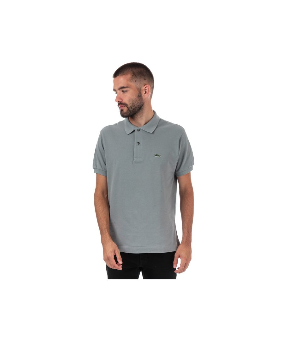 Image for Men's Lacoste Classic Fit L1212 Polo Shirt in Grey