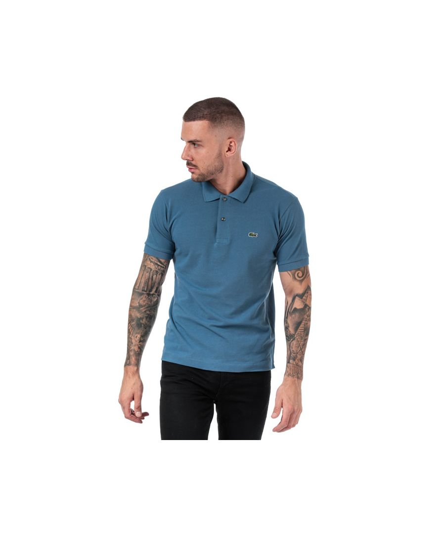 Image for Men's Lacoste Classic Fit L1212 Polo Shirt in Blue