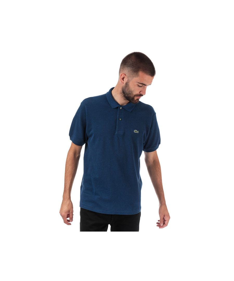 Image for Men's Lacoste Classic Fit L.12.12 Pique Polo Shirt in Blue