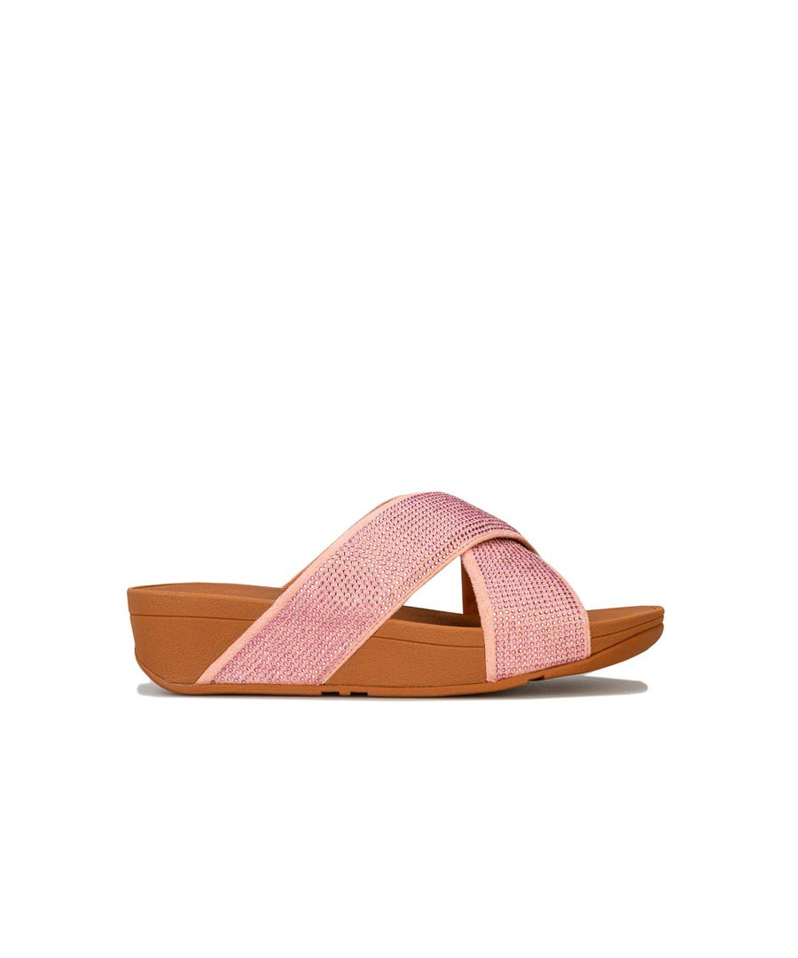 Image for Women's Fit Flop Ritzy Slide Sandals in Dusky Pink