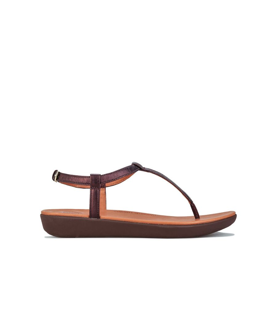 Image for Women's Fit Flop Tia Leather Toe Thong Sandals in Chocolate