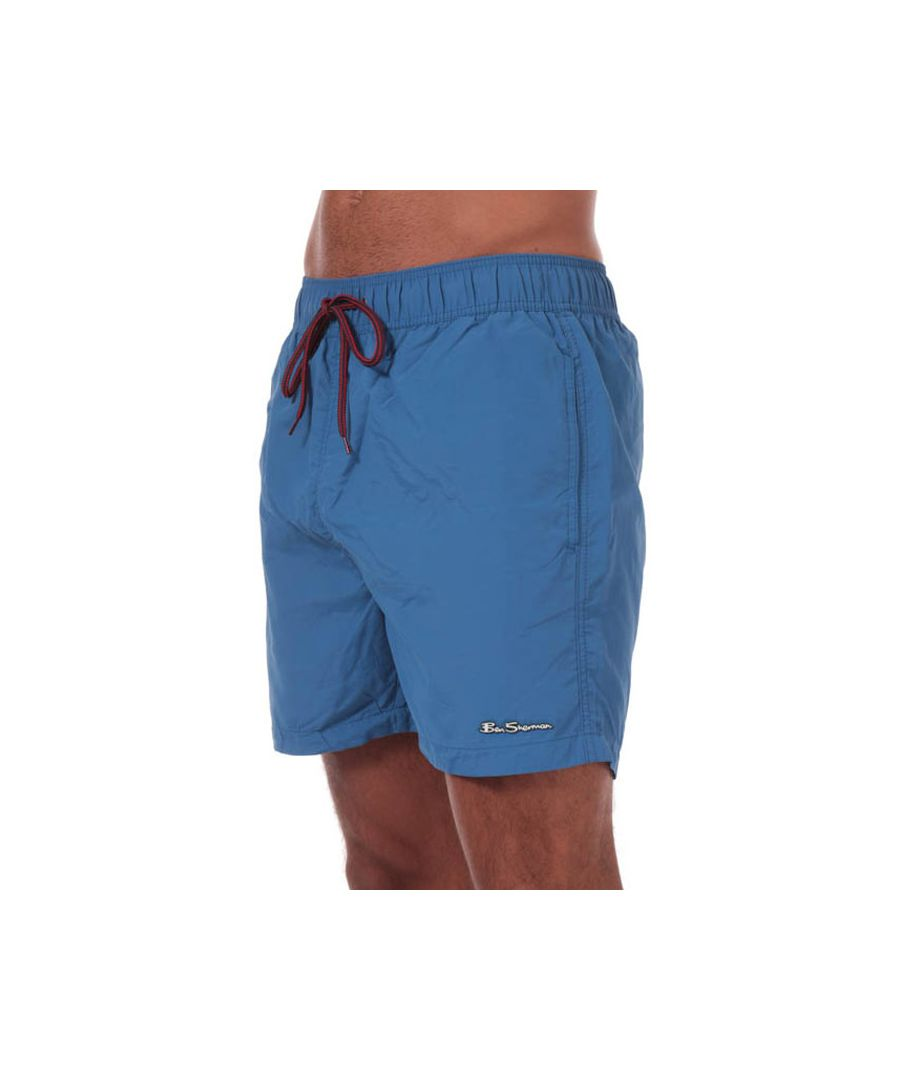 Image for Men's Ben Sherman South Beach Swim Shorts in Blue