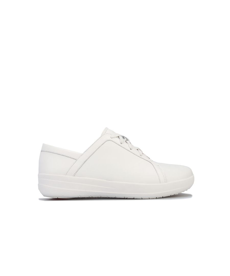 Image for Women's Fit Flop F-Sporty-II Leather Trainers in White