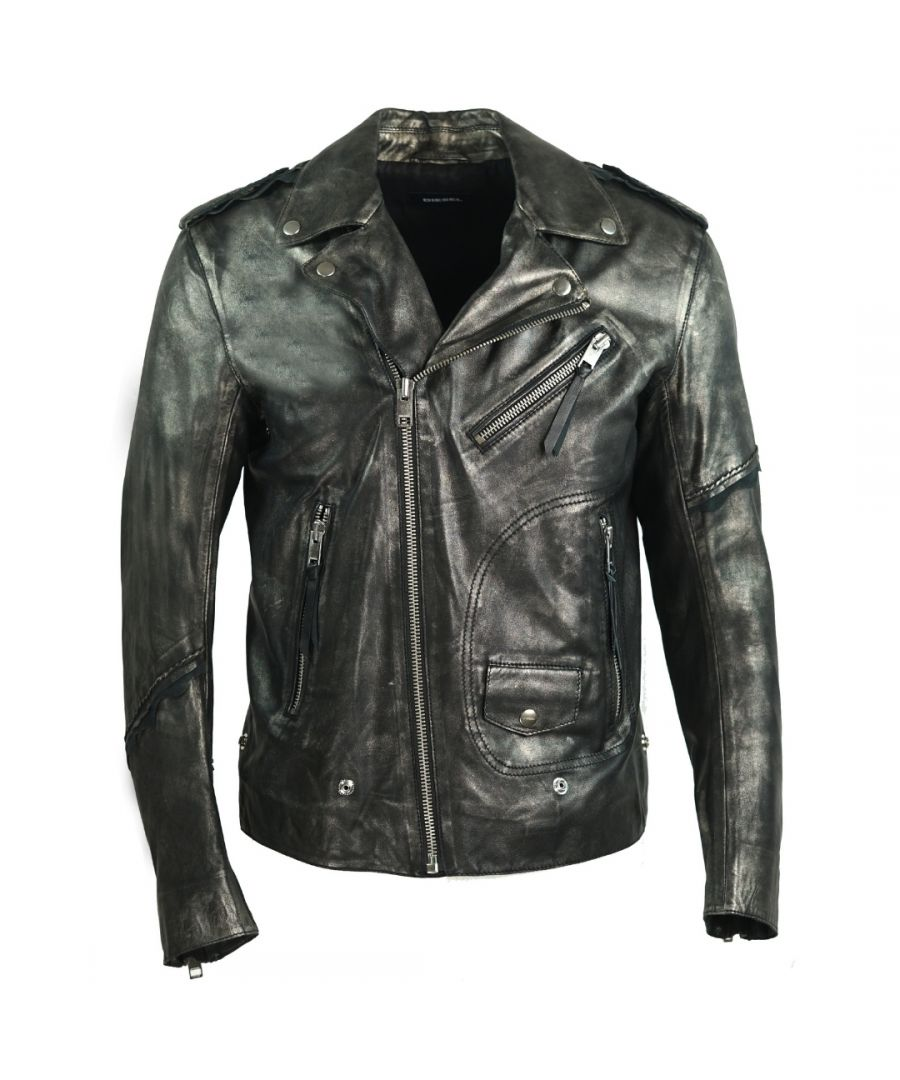 Image for Diesel L-Ingran Biker Leather Jacket