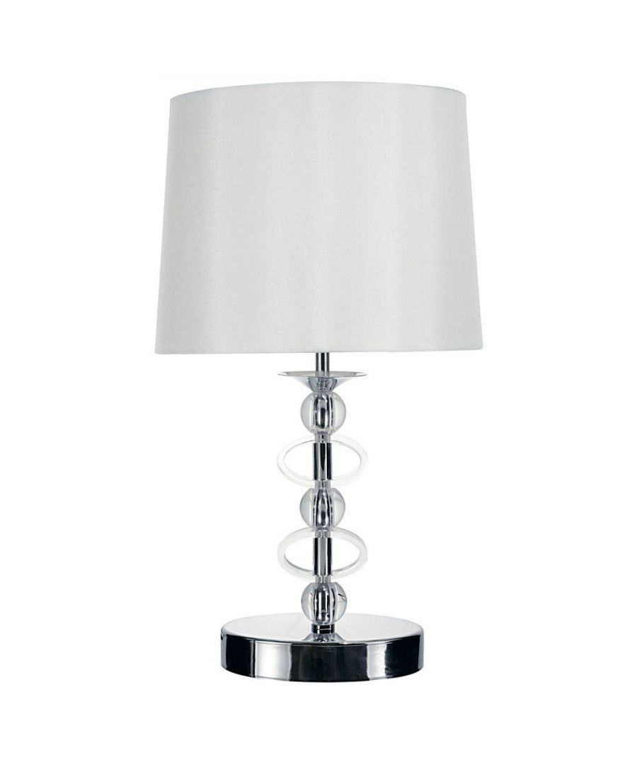 Image for Lacey 38cm Table Lamp Polished Chrome