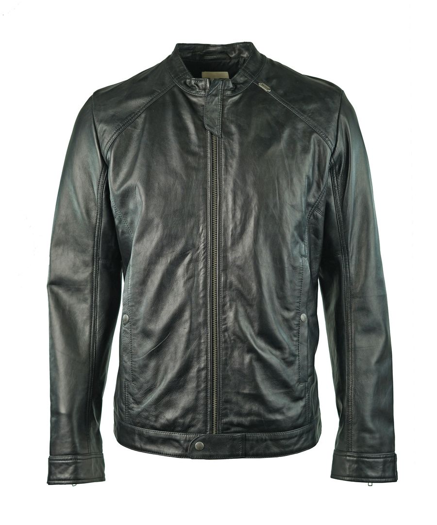 Image for Diesel Laddery-R 900 Black Leather Jacket