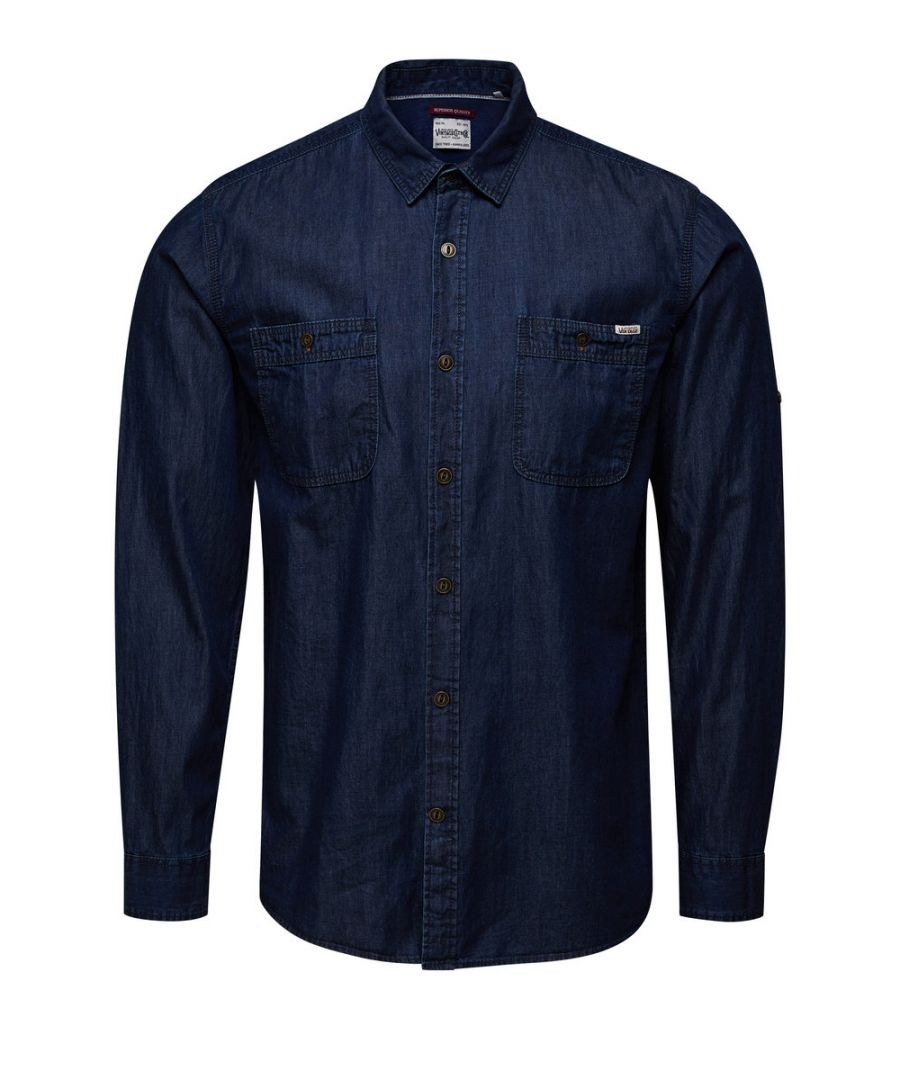 Image for Jack and Jones Lakeport Worker Dark Blue Casual Shirt