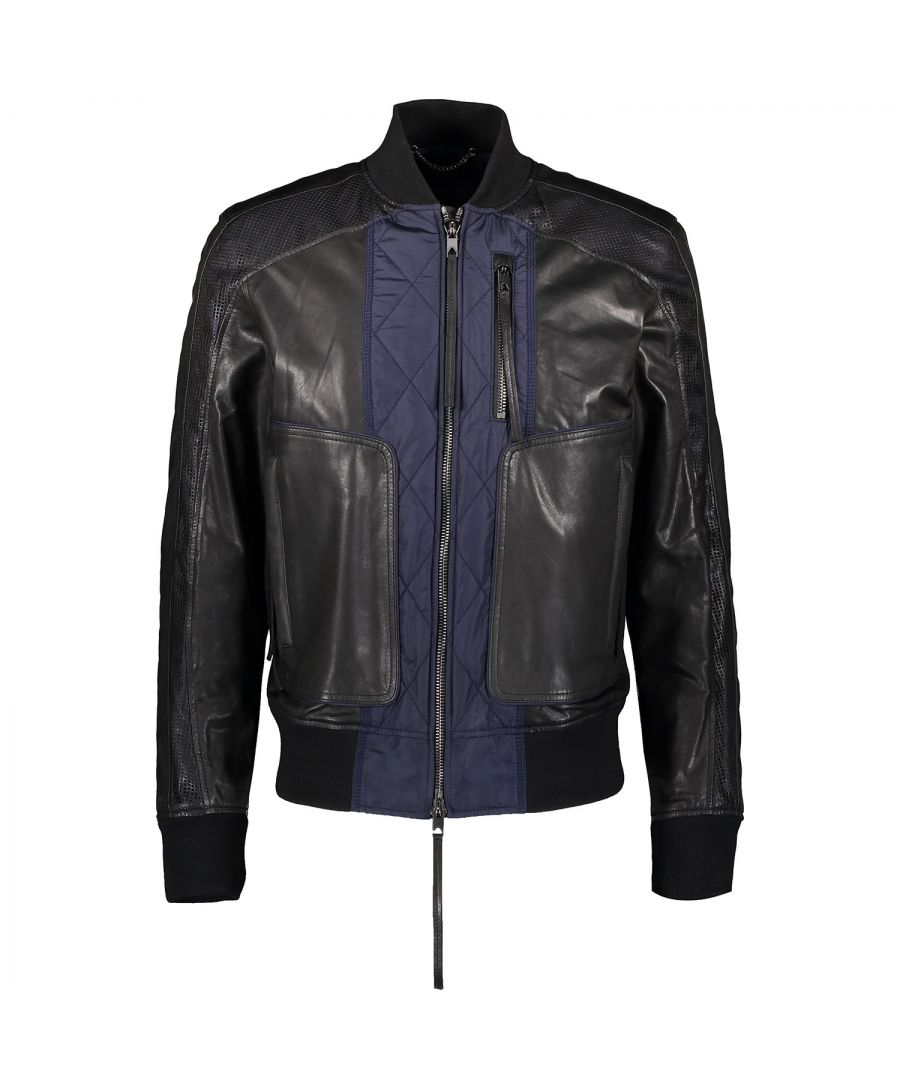 Image for Diesel Black Gold Lamesh 900 Leather Jacket
